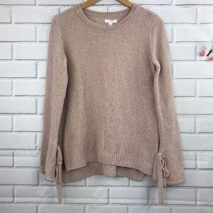 LC Lauren Conrad Chenille Sweater Blush Pink Med
